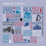 Classic Plus size artwork 'Adrain loves'